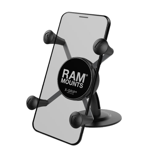 RAM® X-Grip® Phone Holder with Lil Buddy Adhesive Dash Mount / RAP-SB-180-UN7U