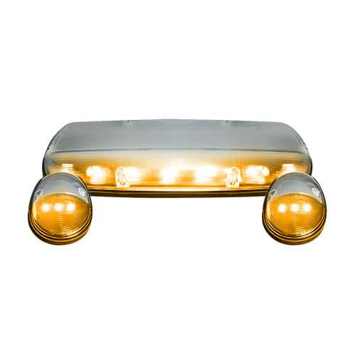 RECON™ 3-Piece Cab Roof Light Set LED Clear Lens in Amber for 2002-2007 GMC & Chevy / 264155CL