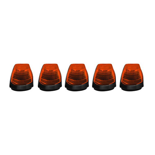 RECON™ 5-Piece Cab Roof Lights Amber Lens for 2017-2020 Ford Super Duty / 264343AM