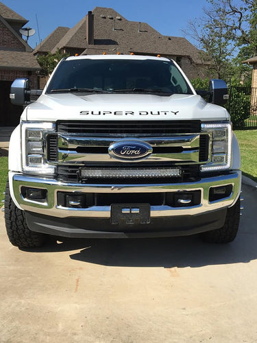 RECON™ Acrylic Emblem Inserts in Black for 2017-2019 Ford Super Duty / 264381BK