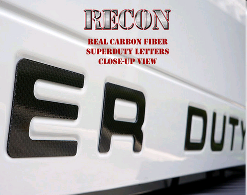RECON™ Acrylic Emblem Inserts in Carbon Fiber for 2008-2016 Ford Super Duty / 264181CF