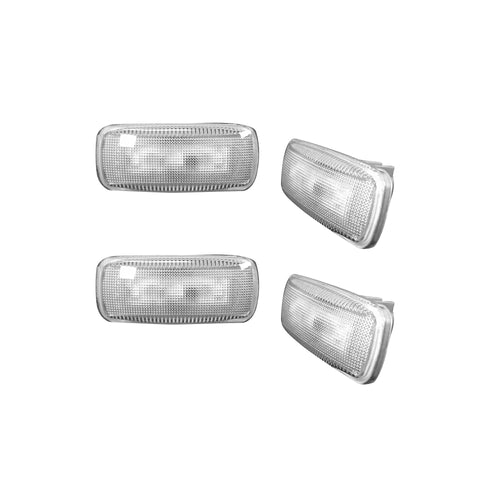 RECON™ Fender Light LED in Clear w/ Chrome Trim for 2010-2019 Dodge Ram / 264137CL