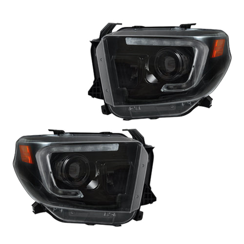 RECON Projector Headlights OLED DRL in Smoked/Black Lens for 2014-2020 Tundra / 264294BKC