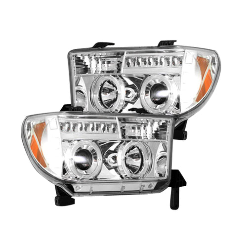 RECON Projector Headlights in Clear/Chrome for 2007-2013 Tundra & Sequoia / 264194CL