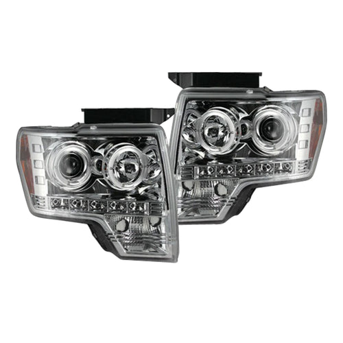 RECON Projector Headlights in Clear or Chrome for 2009-2014 Ford F-150 and Raptor / 264190CL