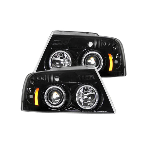 RECON Projector Headlights in Smoked Lens for 2004-2008 Ford F-150 / 264198BK