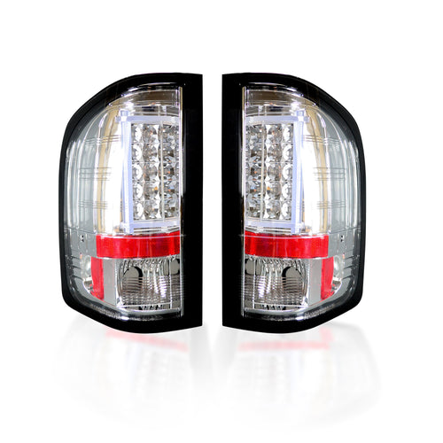 RECON Tail Lights OLED in Clear Lens for 2007-2013 Silverado Single Wheel & 2007-2014 Silverado Dually & Sierra Dually / 264291CL