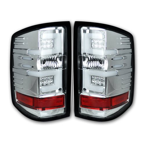 RECON Tail Lights OLED in Clear Lens for 2016-2018 Silverado 1500 & 2016-2019 2500,3500 (Replaces OEM LED) / 264297CL