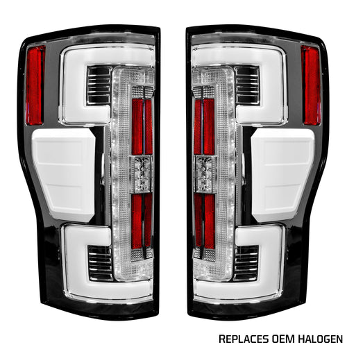 RECON™ Tail Lights OLED in Clear Lens for 2017-2019 Ford Super Duty / 264299CL