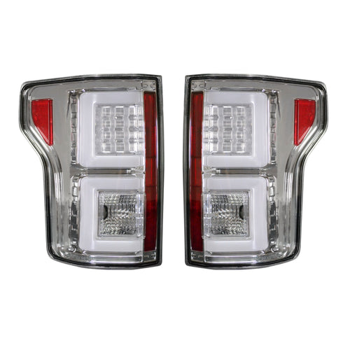RECON™ Tail Lights OLED in Clear Lens for 2018-2020 Ford F-150 (Replaces OEM Halogen) / 264468CL