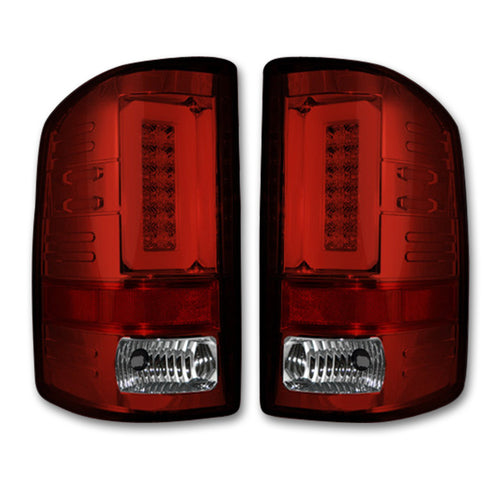 RECON™ Tail Lights OLED in Red Lens for 2016-2018 Sierra & 2016-2019 2500,3500 / 264298RD