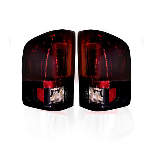 RECON Tail Lights OLED in Red Smoked Lens for 2007-2013 Silverado Single Wheel & 2007-2014 Silverado Dually & Sierra Dually / 264291RBK