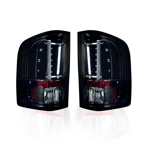 RECON Tail Lights OLED in Smoked Lens for 2007-2013 Silverado Single Wheel & 2007-2014 Silverado Dually & Sierra Dually / 264291BK