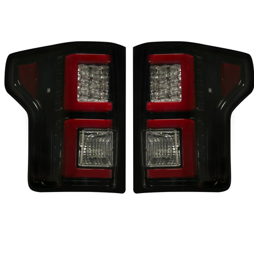 RECON™ Tail Lights OLED in Smoked Lens for 2018-2020 Ford F-150 / 264468BK