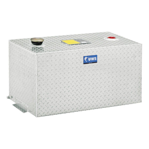 UWS™ 100-Gallon Rectangle Aluminum Transfer Tank / TT-100-R-T-P