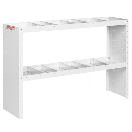 WEATHER GUARD® Heavy Duty Adjustable 2-Shelf Unit, 34in X 52in X 13.5in - white