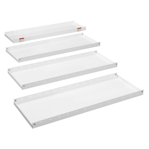 WEATHER GUARD® Heavy Duty Adjustable 4-Shelf Set 42in X 16in - white