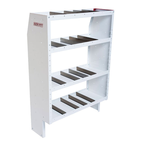 WEATHER GUARD® Heavy Duty Adjustable 4-Shelf Unit, 60in X 42in X 16in - white