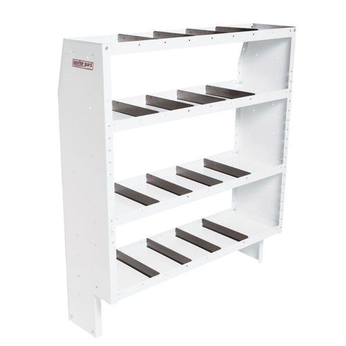 WEATHER GUARD® Heavy Duty Adjustable 4-Shelf Unit, 60in X 52in X 16in - white