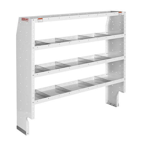 WEATHER GUARD® Heavy Duty Adjustable 4-Shelf Unit, 60in X 60in X 16in - white