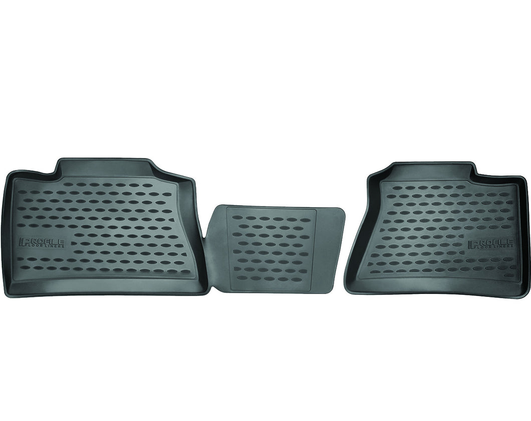 Westin Profile Black Second Row Floor Liners - 2015-2020 Ford F150 Extended Cab