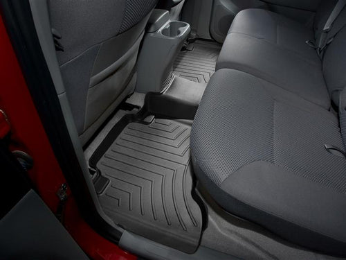 WeatherTech Black Second Row Floor Liner - 2005-2015 Toyota Tacoma Double Cab