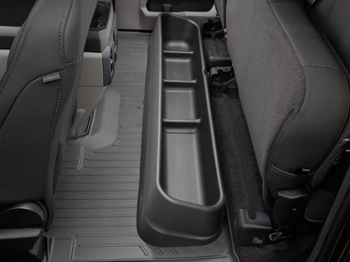 WeatherTech Underseat Storage System - 2015-2020 Ford F150, 2017-2020 Ford Super Duty Extended Cab, black color