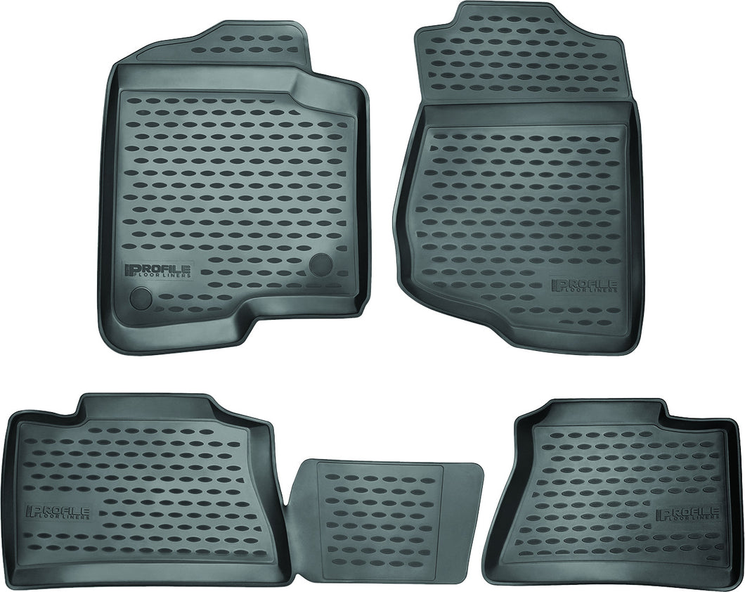 Westin Profile Black Front, Second Row and Third Row Floor Liners - 2015-2020 Cadilac Escalade with Bucket Seats black mat