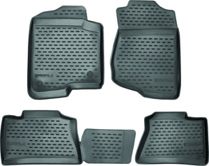 Westin Profile Black Front and Second Row Floor Liners - 2014-2018 Silverado/Sierra Crew 1500, 2015-2019 HD black mat