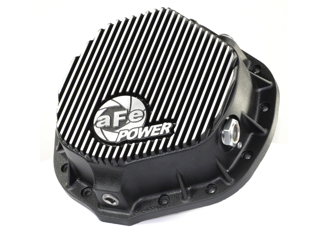 aFe POWER® Rear Differential Cover, Machined Fins; Pro Series / 46-70012