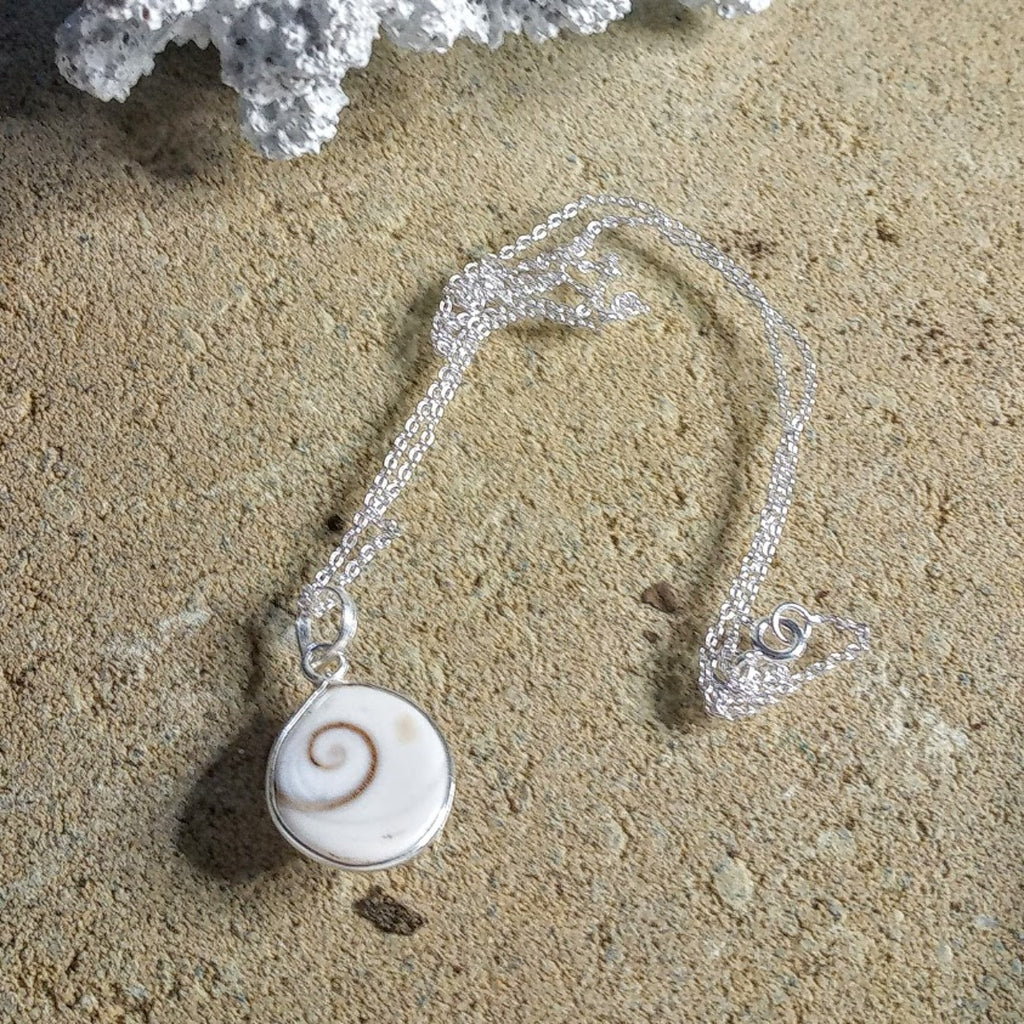 Shiva Shell 925 Silver Necklace