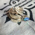 Adjustable Abalone Silver Ring