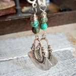Double Turquoise Tribal Hook Earrings