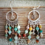 "Navajo Rainbow ""Dreamcatcher"" Earrings 🌈"