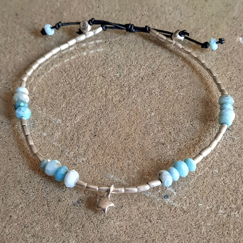 """Star Bright"" - Hilltribe Silver Anklet"