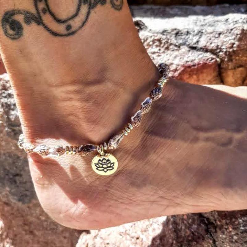 tiger shell Lotus Anklet