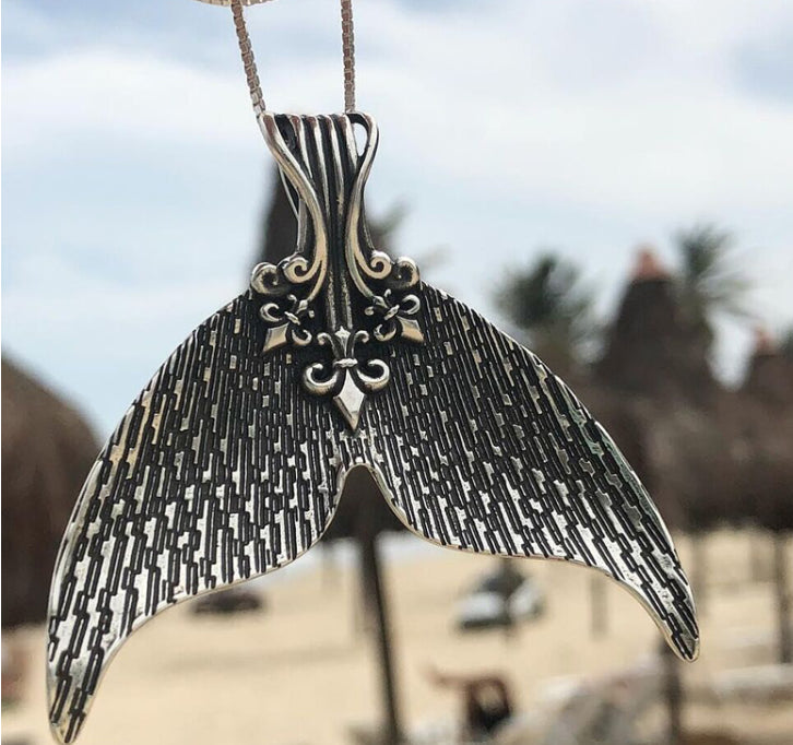 Silver Tail Mermaid Necklace