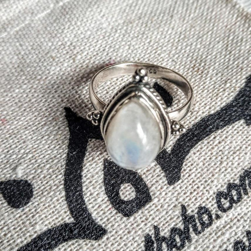 Moon Tears 925 Silver ring