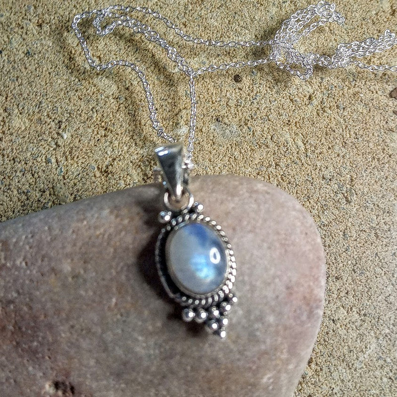 """Moon-Child"" - 925 Silver Moonstone Pendant & 925 Silver Chain ONLY TWO AVAILABLE!"