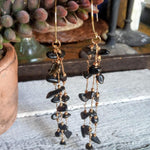 Onyx Gold Drop Earrings