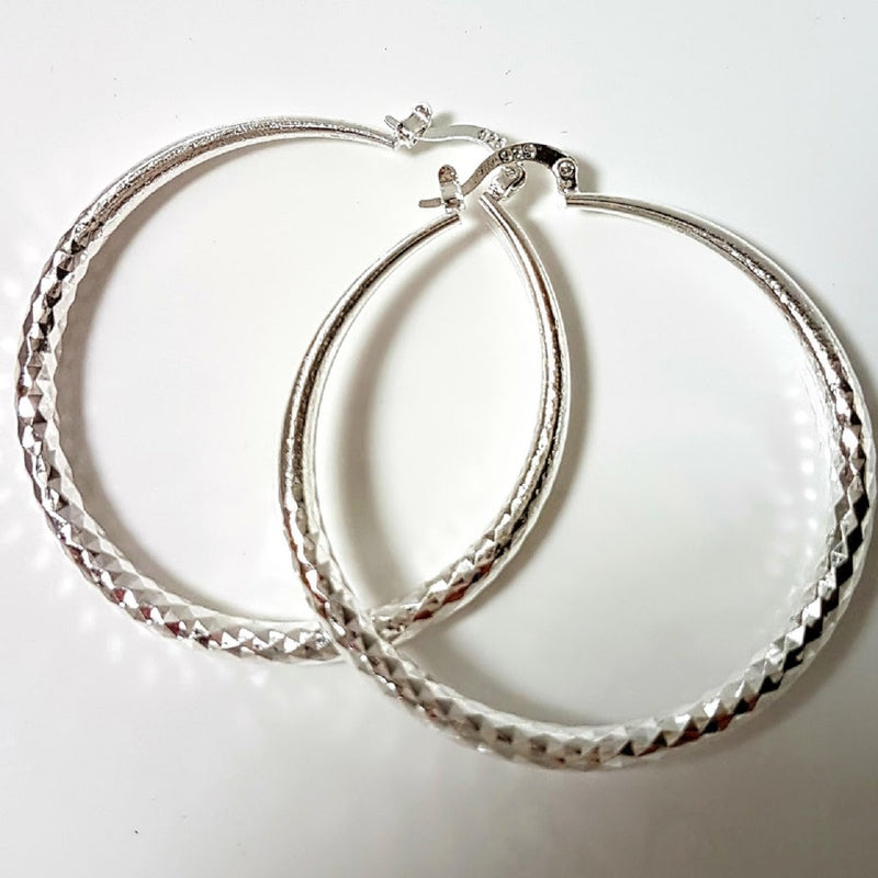 Silver Boho Large Hoop Earrings 💕