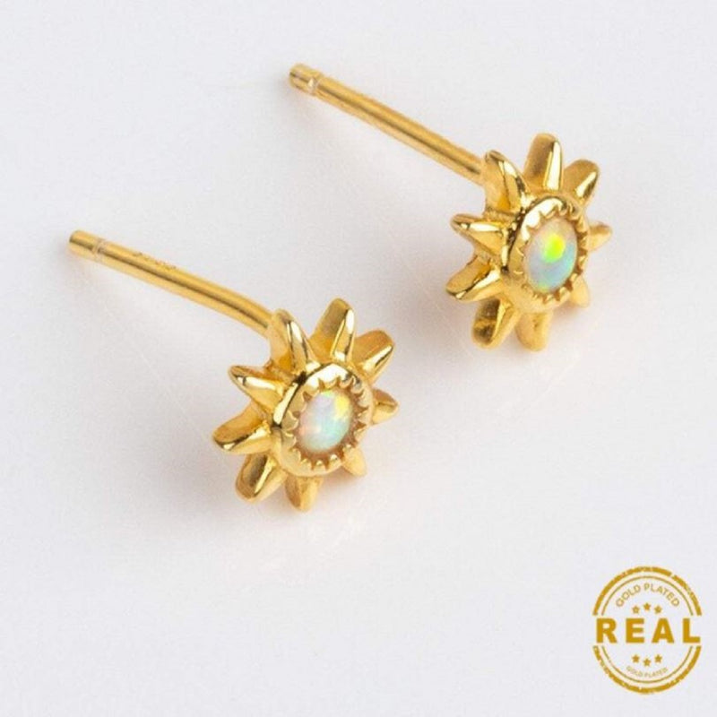 """Sunflower"" Opal Earrings 🌻"