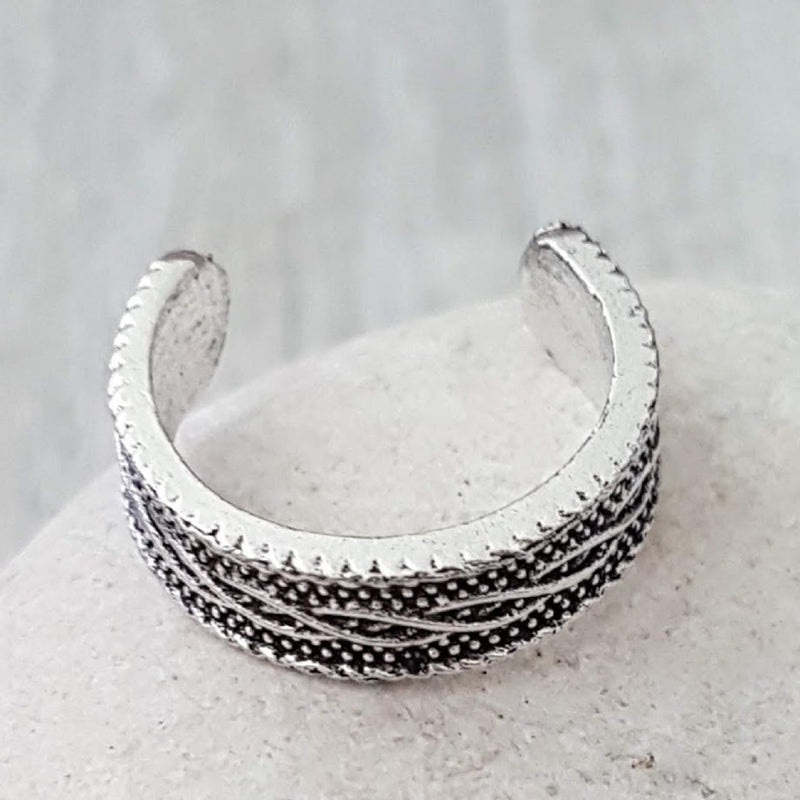 Nordic Design Silver Toe Ring