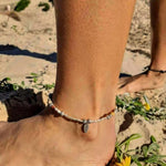 Natural Sun - Sunstone & Hilltribe Anklet