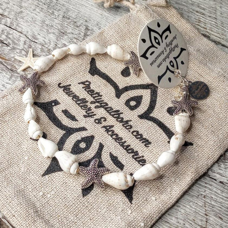 """The Mermkali"" Shell Sea and Star Anklet Set"