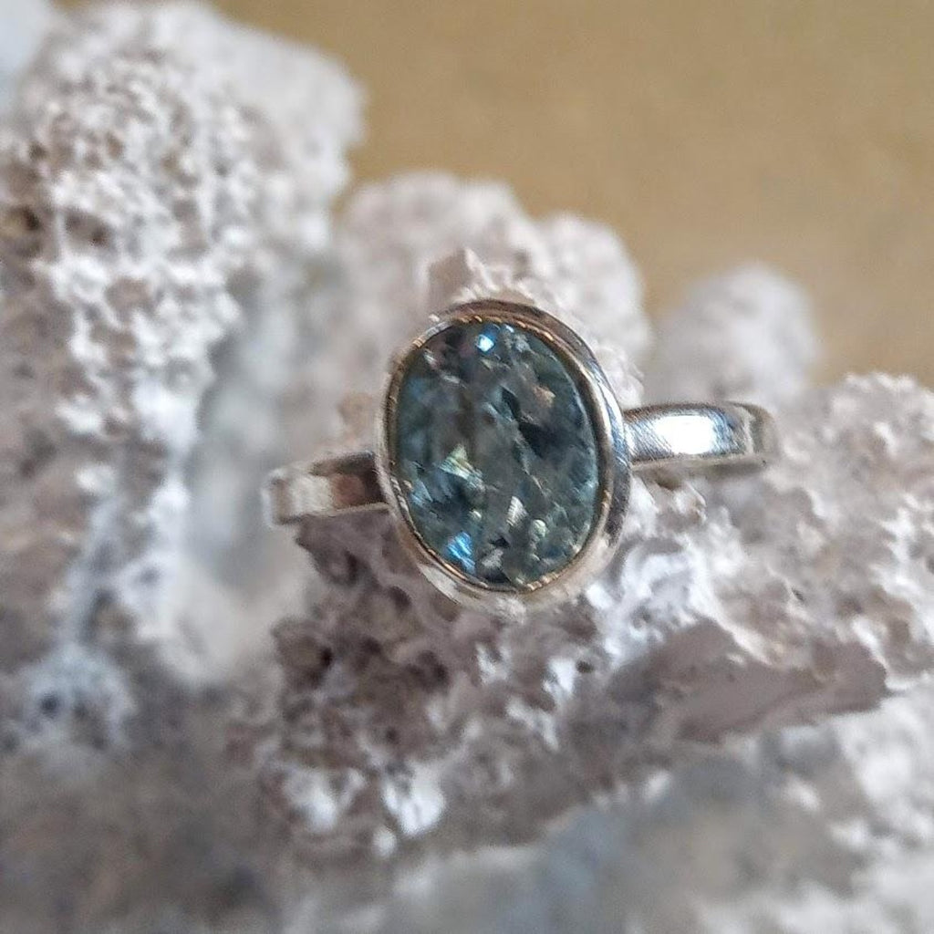 Blue Topaz 925 Silver Ring