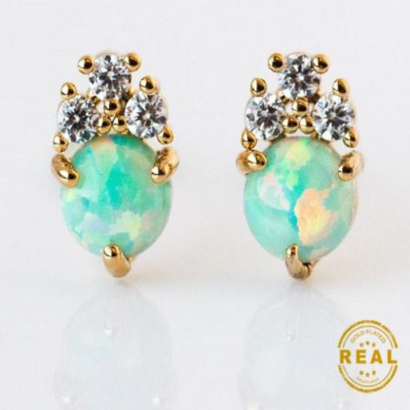 Princess Crown Opal Earrings 👑