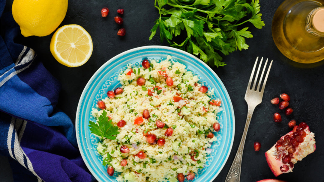 Israeli Couscous Greek Salad