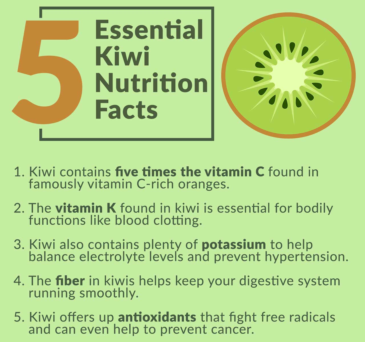5 Kiwi Fruit Nutrition Facts to Know