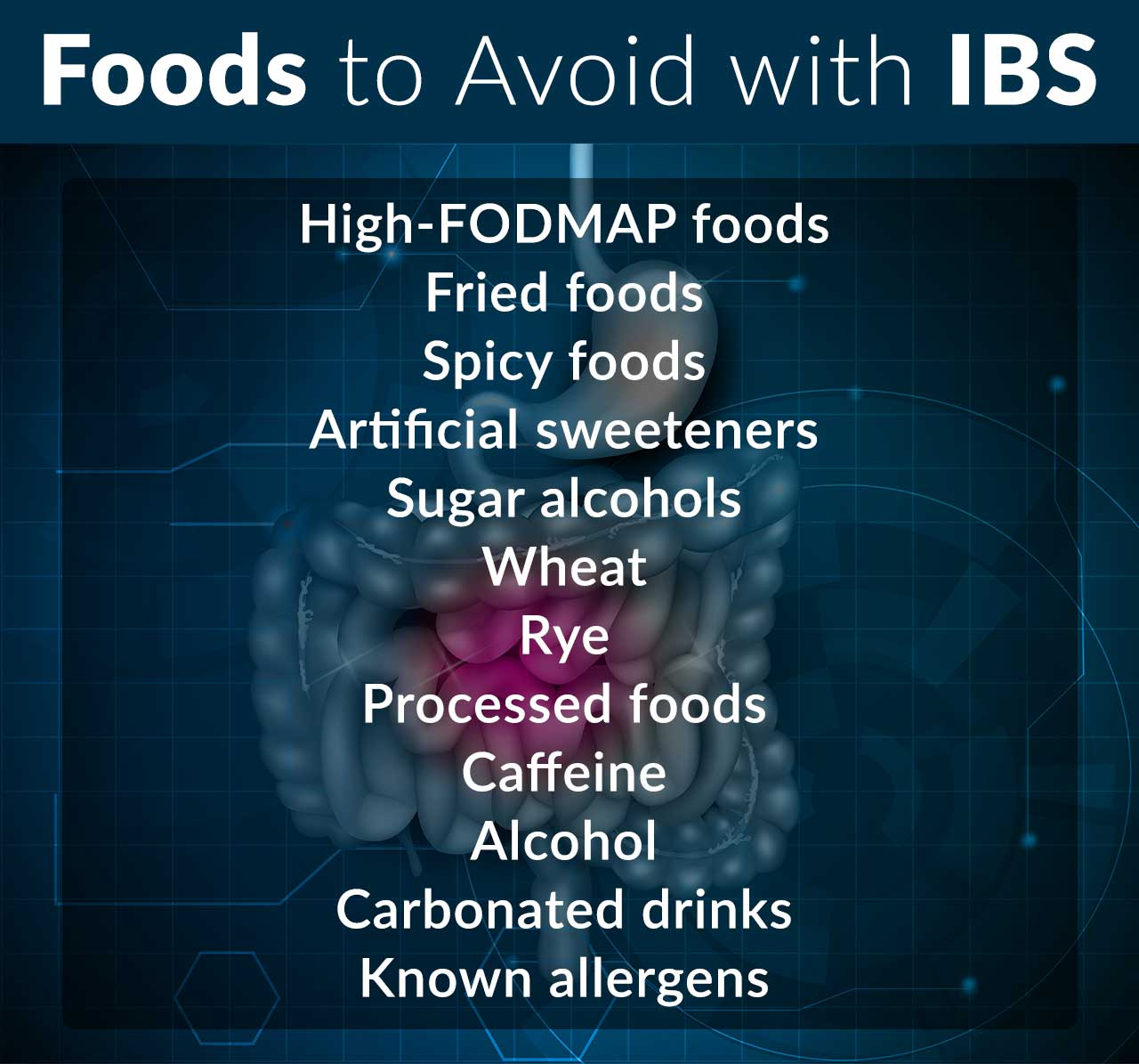 Foods to avoid with IBS